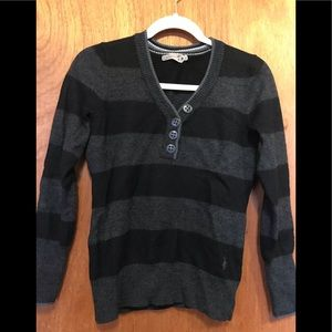 Smartwool striped V-neck sweater
